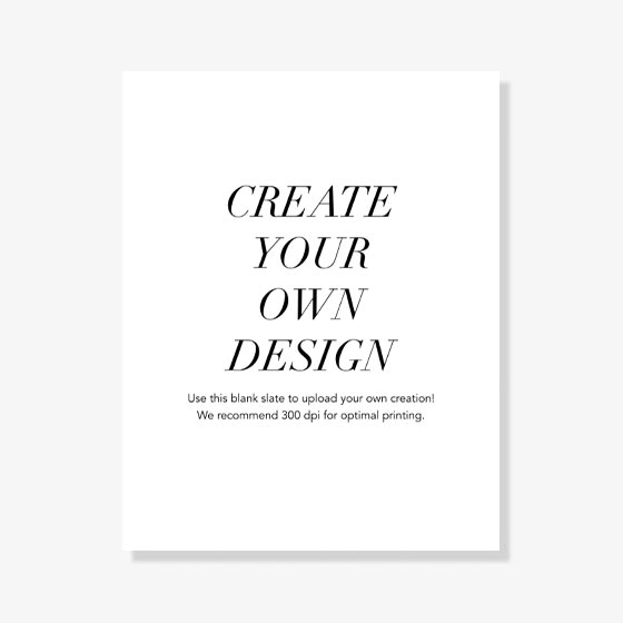Upload Your Own Design Art Print