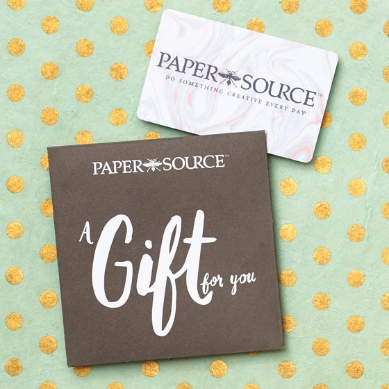 Paper Source Gift Card.