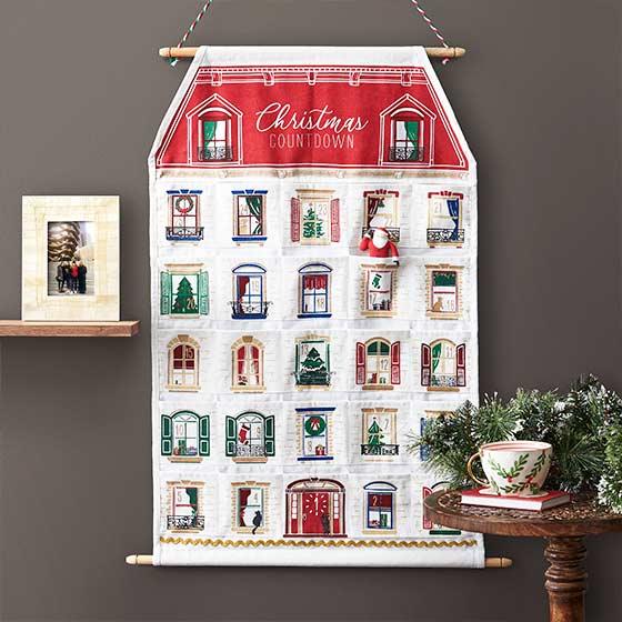 Large hanging wall advent calendar.