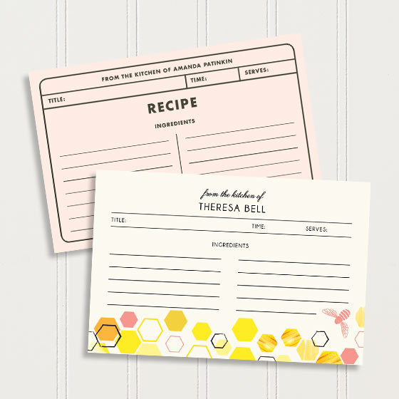 Customizable Recipe Card