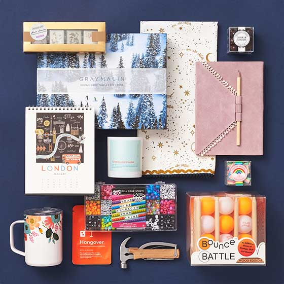 Assorted gifts from the top 100 best sellers.