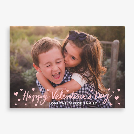 Valentine's Day Hearts Custom Photo Card