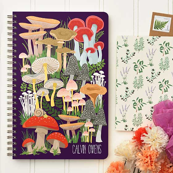 Custom Journal and floral designs on trend with Cottagecore