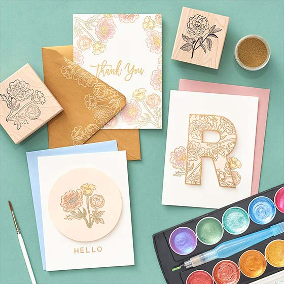 Embossed Floral Stationery Virtual Workshop