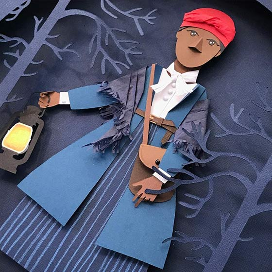 Creatively crafted Paper Doll of Harriet Tubman