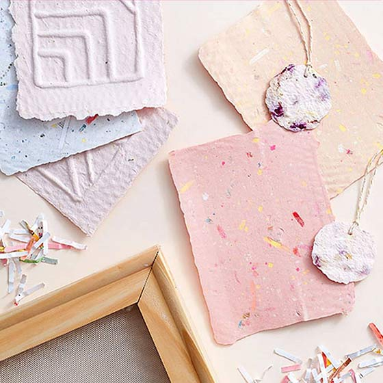 Paper Source Creativity Subscription box featuring Paper Making.