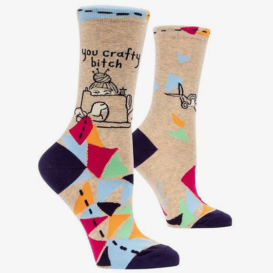 You Crafty Bitch Socks.