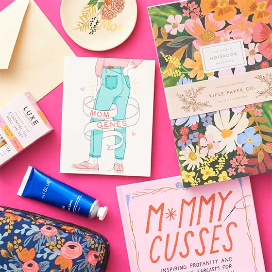 Assorted Mother's Day Gifts.