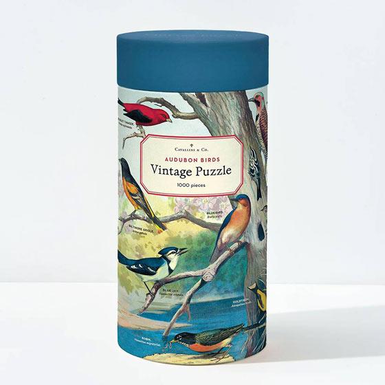 Beautiful Cavallini and Co 1,000 piece puzzle featuring Audubon birds.