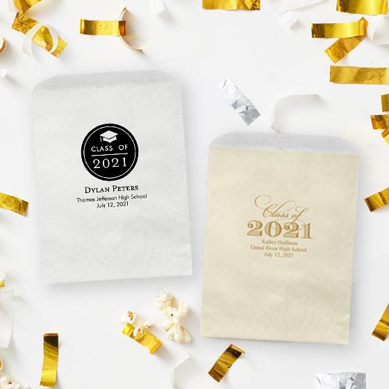 Custom favor bags for grad parties.