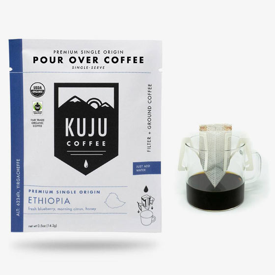 Pour over coffee gift set with Ethiopian coffee.