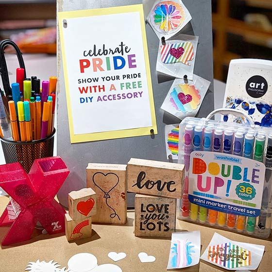 Find your Paper Source store to create a free DIY accessory to celebrate Pride.