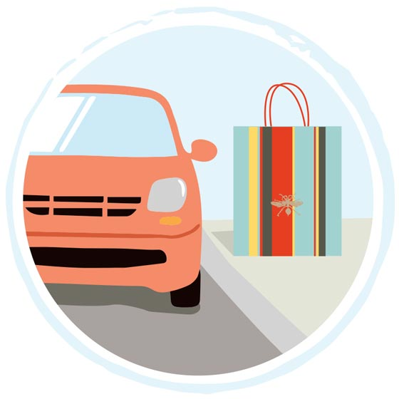 Curbside and In-Store Pickup Icon for Paper Source.