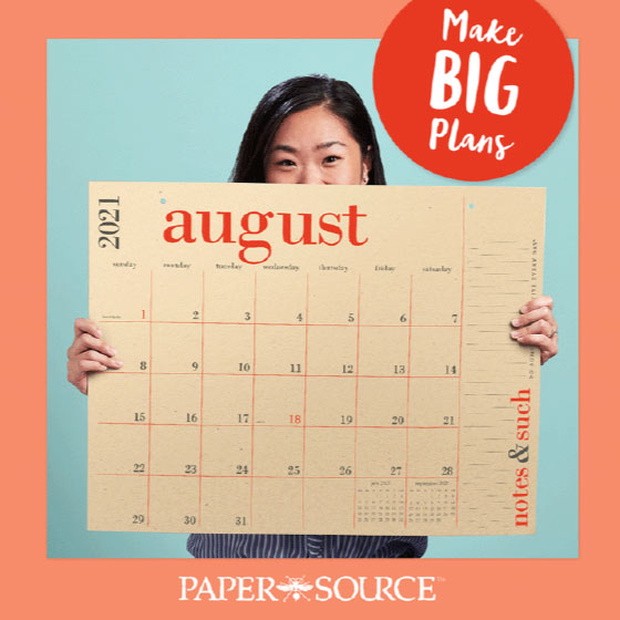 Cover of the Make Big Plans Summer Paper Source Catalog.