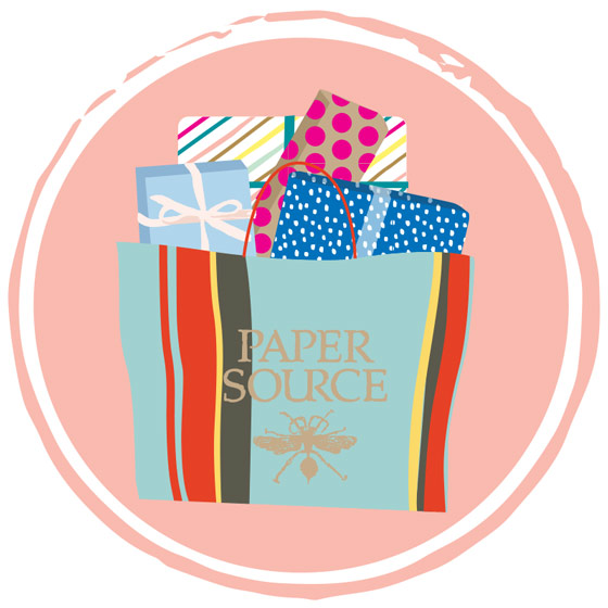 Shopping Bag Icon for Paper Source.