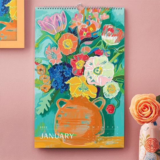 Beautiful wall art calendar by Paper Source.