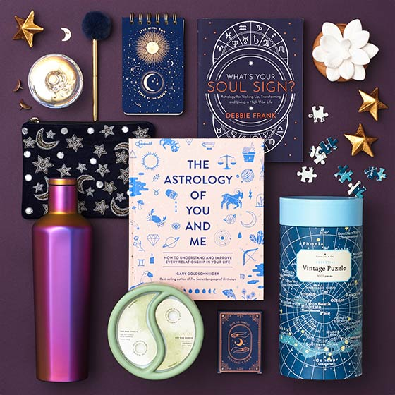 Fun gifts that are celestial and magical themed, including astrology books.