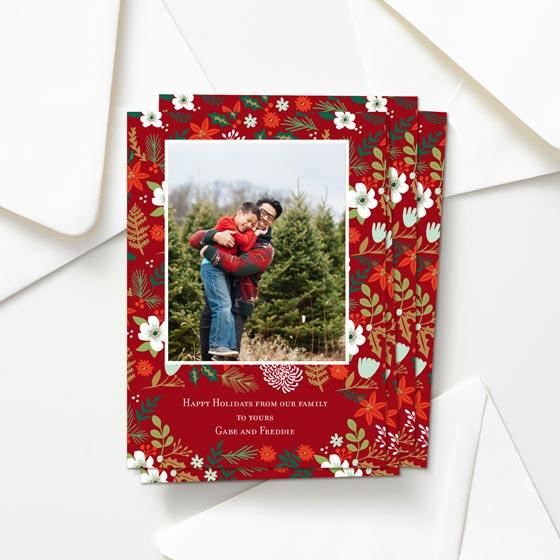 Micro Floral Custom Greeting Card.