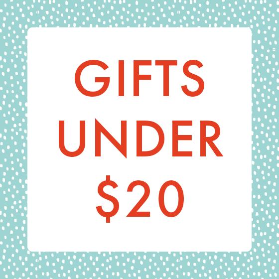 Gifts under twenty dollars.