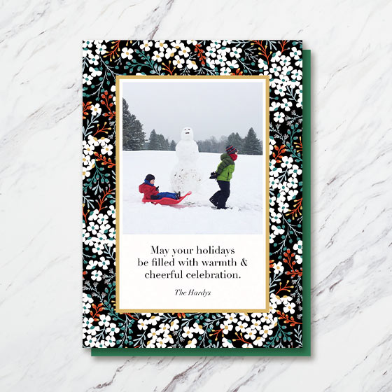 Custom Photo Card with a beautiful floral border.