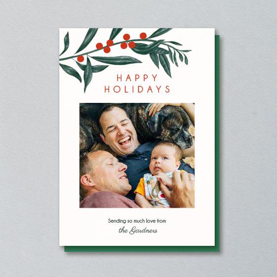 Christmas Botanical Photo Card.