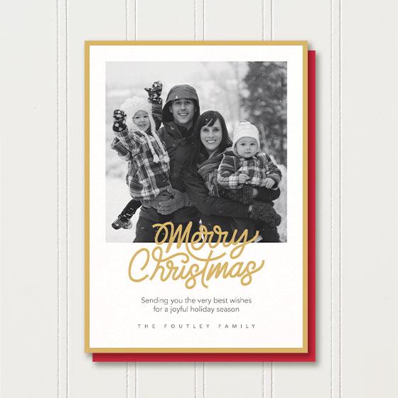 Shiny and New Holiday Photo Card.