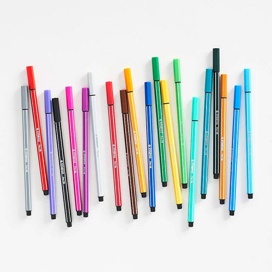Colorful set of Stabilo Markers.