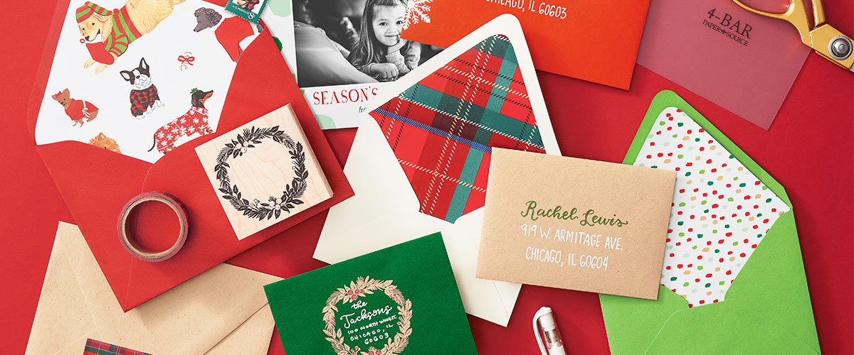 christmas card envelopes