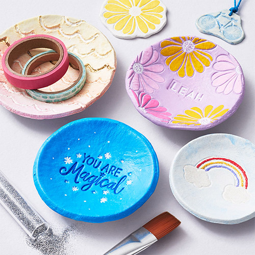 DIY clay dishes craft