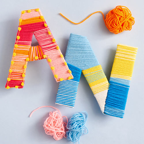 diy accordion letter craft